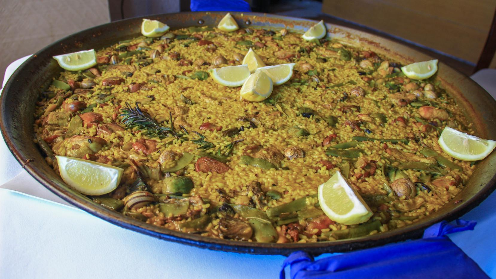 paella valenciana per a 4